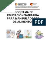 Programa de Educacion Sanitaria Para Manipuladores de Alimentos