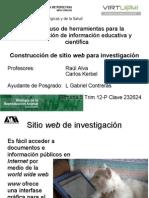 Construcción de sitio web para investigación