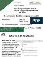 Construcción de sitio web para educación