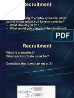 Unit 5 - Recruitment