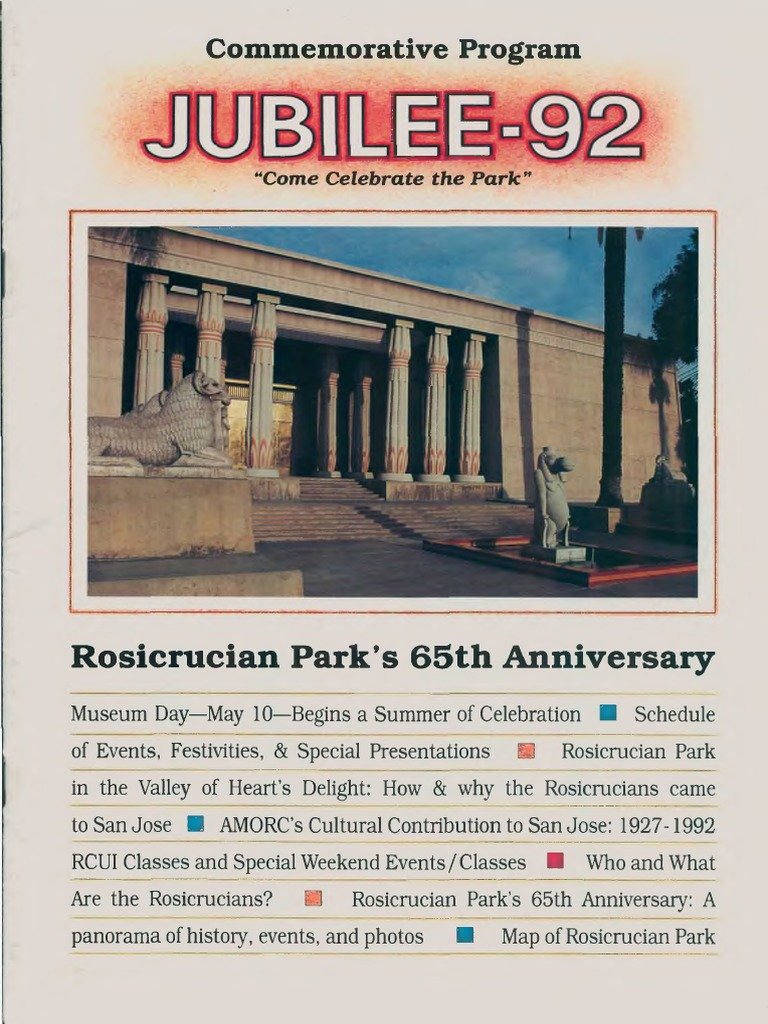 AMORC - Jubilee-92 pdf | Library And Museum | Philosophical