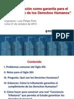 Tributacion Garantia+ Cumplimiento Ddhh Polo Peru
