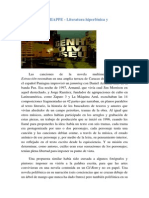 DOMENICO CHIAPPE, LITERATURA HIPERFÓNICA E HIPERMEDIA