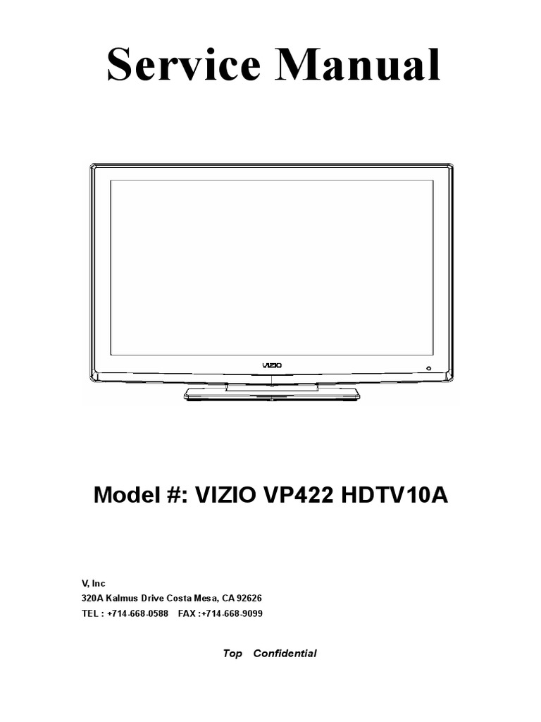 VP422 HDTV10A Service Manual.pdf | Electromagnetic Interference | Rgb Color  Model