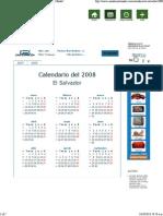 Calendario de días de asueto en 2008, en El Salvador