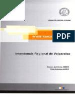 Cion Especial 20-12 Gobierno Regional Sobre Eventuales Irregularidades Sobre El Uso Del 2% Del Fndr - Diciembre 2012