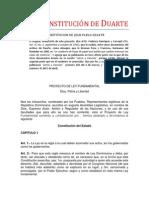 La Constitución de Duarte