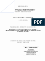 Interrogatorio Schiavone - Commissione Bicamerale Rifiuti 1997 - Desecretato nel 2013