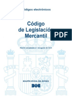 Codigo Comercio, Reglamento Del Registro Mercantil, Modif Estruct de Sociedades Mercantiles, Ley Cambiaria y Del Cheque, Ley Concursal