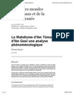 Nagel_Le Mahdisme d'Ibn Tûmart et d'Ibn Qasî une analyse phénoménologique