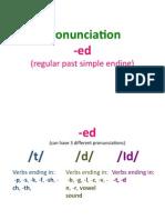 pronunciation -ed