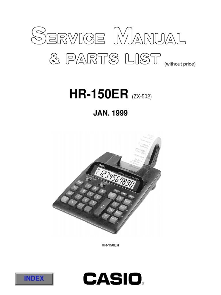 Casio_Hr-150er_Calculator_With_Printer_Service_Manual_Plus