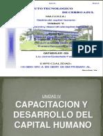 Unidad IV Capacitacion y Desarrollo de Capital Humano.