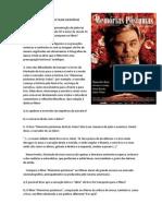 ROTEIRO PARA ANÁLISE DO FILME MEMÓRIAS PÓSTUMAS