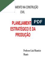 Aula  Planejamento Estratégico e da produção - MODULAR 2011 [Modo de Compatibilidade]