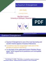 Measuring Quantum Entanglement