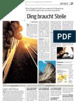David im Kurier, 25. Juli 2009