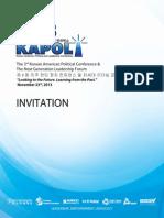 KAPOL Official Invitation
