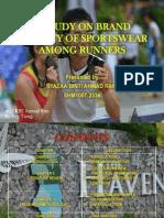A STUDY ON BRAND LOYALTY OF SPORTSWEAR AMONG RUNNERS