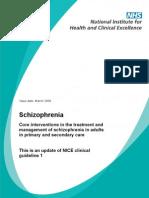 NHS Schizophrenia Guideline Word