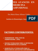A. Avances en Medicina Transfusional