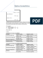 Ejercicios optica Geometrica