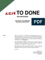 ZTD - Zen To Done (em Português)