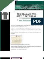 The Obama Birth Certificate Hoax
