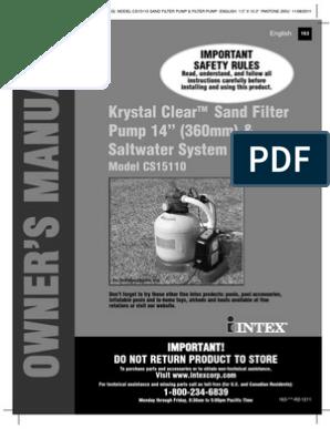 Krystal Clear Sand Filter Pump 14in & Saltwater System