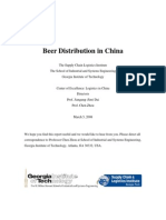 Beer Distribution in China