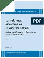 2012. BID. Las Reformas Estructurales en AL