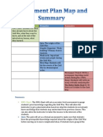 assessment plan map and summary