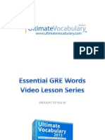Essential GRE Words