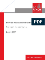 Physical Health in Mental Health
