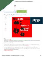 Qué es el crowdfunding y 5 herramientas para aprovecharlo _ ExpokNewsExpokNews