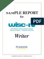 WISCIV Writer Sample Report
