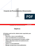 Manual 1 Oracle - Procedimientos Almacenados