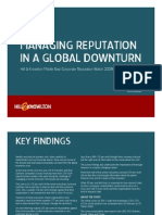 Managing Reputation in a Global Downturn (Presentation)