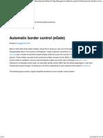 egate automatic border control