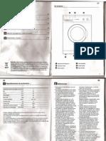 Manual Instrucciones Lavadora Bluesky BLF 1006
