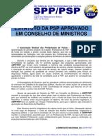 Nota de Imprensa ASPP.PSP - Aprovação do Estatuto da PSP