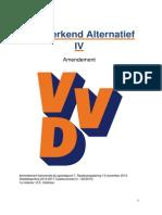 Stadsbegroting VVD Nijmegen Werkend alternatief 2014