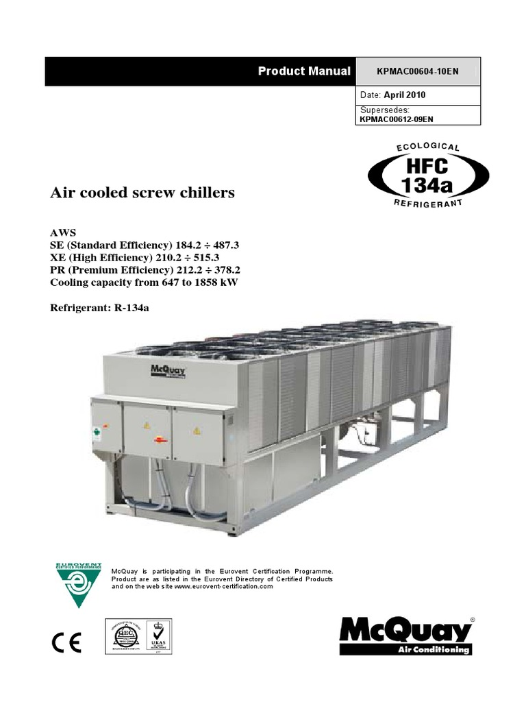 mcquay air cooled chiller manual