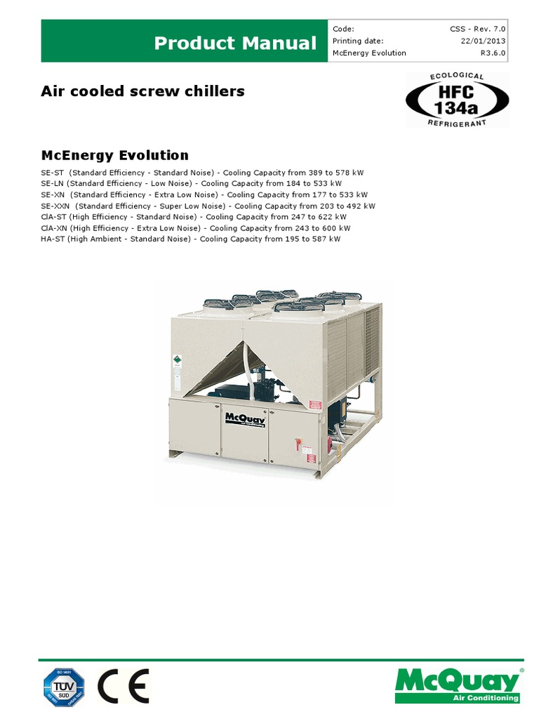 Air cooled screw chillers mcenergy evorev 70pdf air air cooled screw chillers mcenergy evorev 70pdf air conditioning heat exchanger cheapraybanclubmaster Choice Image