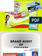 Brand Audit of Colgate Submitted to: