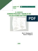 Herbario-Administracion y Manejo de Colecciones Botanicas