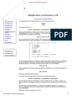 23.Multiplication and Division in C#.pdf
