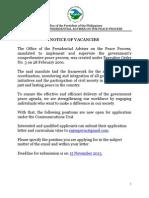 Notice of Vacancies_Comm Unit_asof5Nov2013