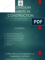A study of Magnesium Cements in Construction Industry