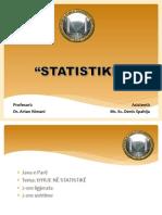 Hyrje në Statistikë